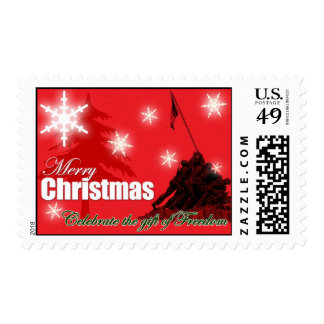 Celebrate Freedom Military Christmas Postage