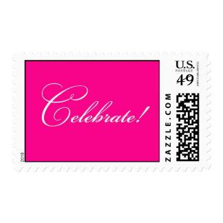 Celebrate - Fuschia Postage Stamp