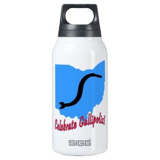 Celebrate Gallipolis 10 Oz Insulated SIGG Thermos Water Bottle