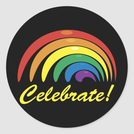 Celebrate Gay Pride Abstract Rainbow Stickers