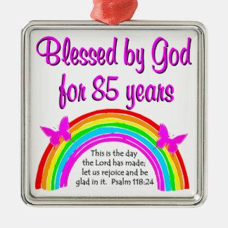 CELEBRATE GODS LOVE OF 85 YEARS DESIGN METAL ORNAMENT
