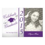 Celebrate Graduate Purple Photo 5x7 Paper Invitation Card