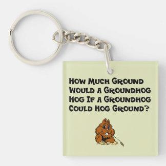 Celebrate Groundhog Day Keychain