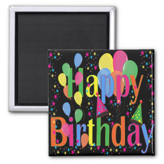 Celebrate Happy Birthday 2 Inch Square Magnet