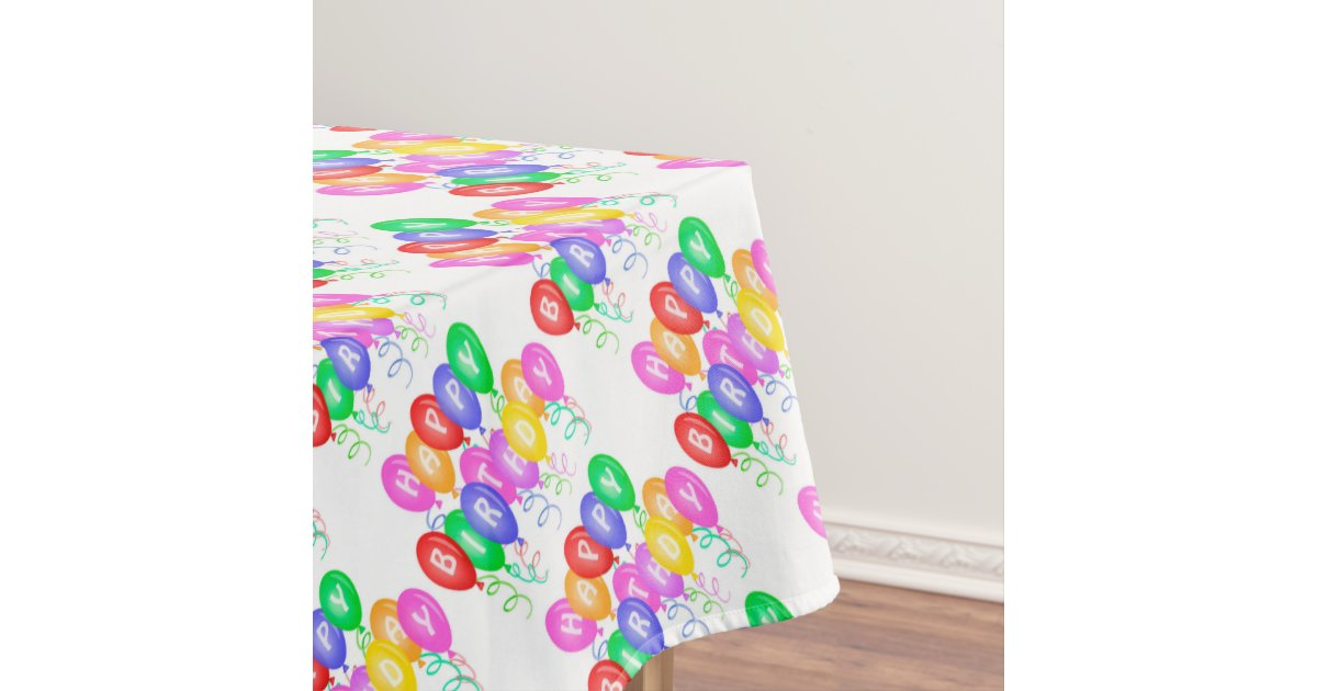 Celebrate Happy Birthday Tablecloth | Zazzle.com