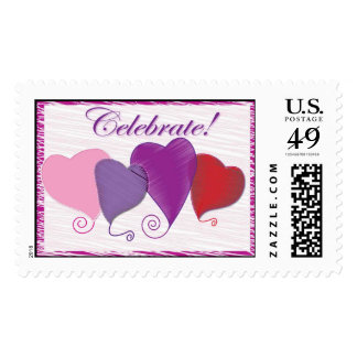Celebrate Hearts stamps for special ocassions