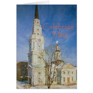 """Celebrate Him!"" Christmas card"