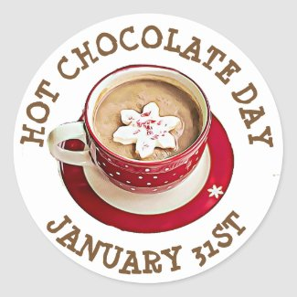 Celebrate Hot Chocolate Day, January 31st stickers