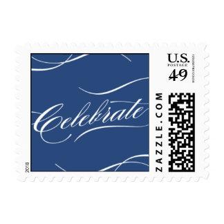 Celebrate in Navy Postage