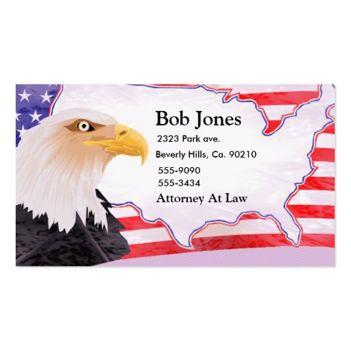 Celebrate Independence Eagle Business Cards