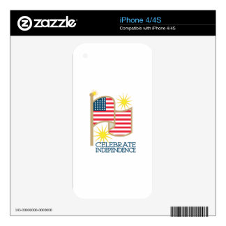 Celebrate Independence Skin For iPhone 4S