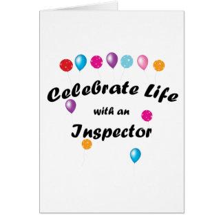 Celebrate Inspector Greeting Card