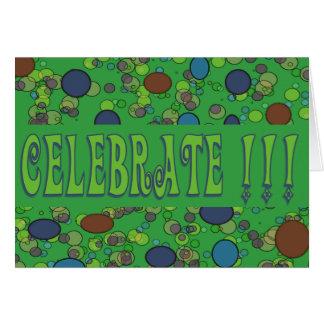 celebrate invitations green
