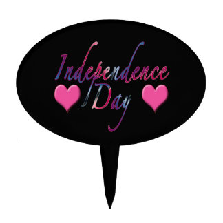 Celebrate July 4 Independence Day Cake Pick