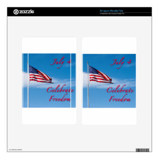 Celebrate July 4 Independence Day Kindle Fire Decal