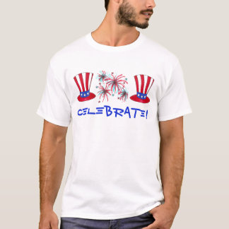 Celebrate! July Fourth 4th Fireworks Uncle Sam Tee