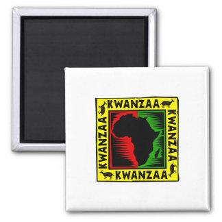 Celebrate Kwanzaa 2 Inch Square Magnet