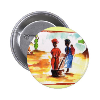 Celebrate Kwanzaa, Africa village life Buttons