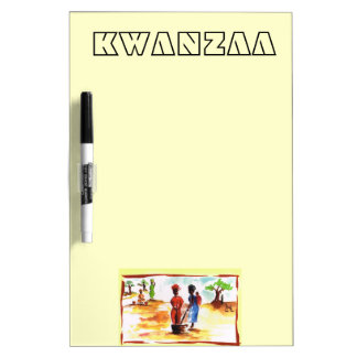 Celebrate Kwanzaa, Africa village life Dry-Erase Board