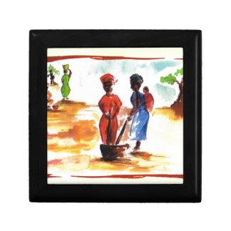 Celebrate Kwanzaa, Africa village life Keepsake Boxes