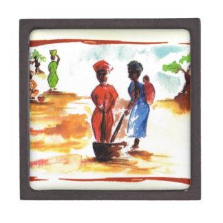 Celebrate Kwanzaa, Africa village life Premium Jewelry Box