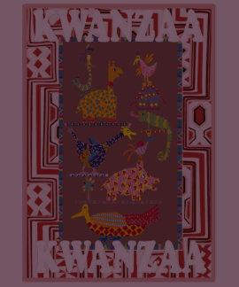 Celebrate Kwanzaa, African animals T-shirts