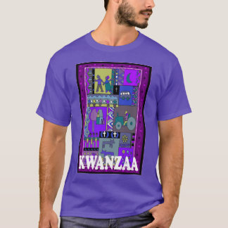 Celebrate Kwanzaa,  african collage T-Shirt