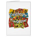 Celebrate Kwanzaa Collage Greeting Card