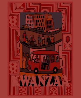 Celebrate Kwanzaa, town life T-shirt