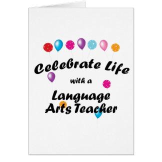 Celebrate Language Arts Teacher Card