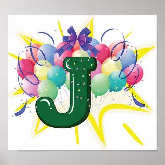 Celebrate Letter J Poster