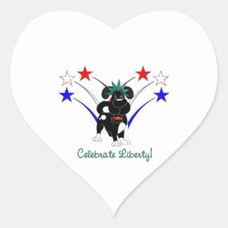 Celebrate Liberty - Fireworks Heart Sticker
