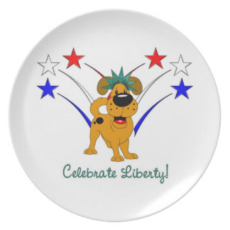 Celebrate Liberty - Fireworks Party Plates