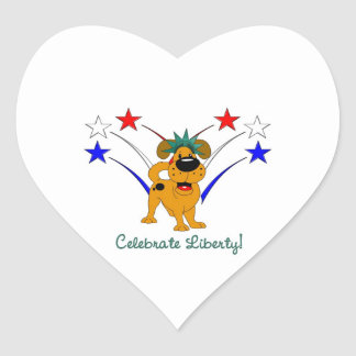 Celebrate Liberty - Fireworks Sticker