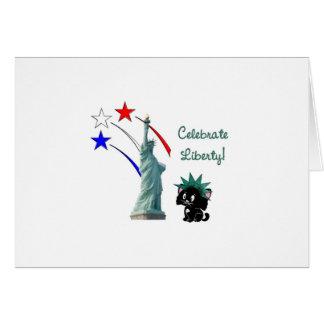Celebrate Liberty Greeting Card