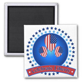 Celebrate Liberty Patriotic America - We Love USA Refrigerator Magnets