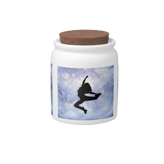 Celebrate life and light candy jar
