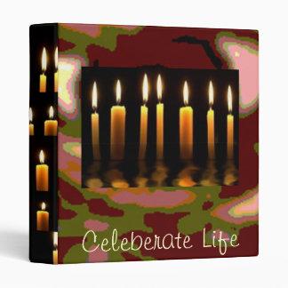 Celebrate Life -  Enjoy and share the joy 3 Ring Binder