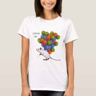 Celebrate Life! Mouse With MANY Balloons T-Shirt