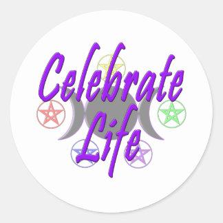 Celebrate Life Round Sticker