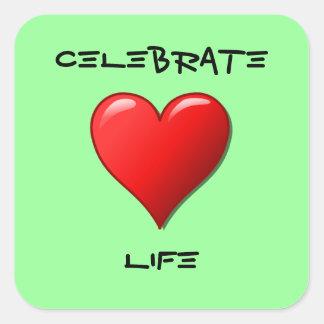 Celebrate Life Square Sticker