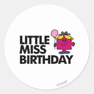 Celebrate Little Miss Birthday Classic Round Sticker