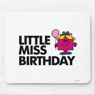 Celebrate Little Miss Birthday Mouse Pad