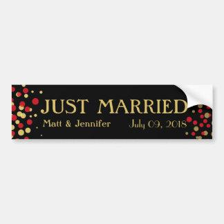 Celebrate Love – Candy / Apple Red + Gold Bumper Sticker