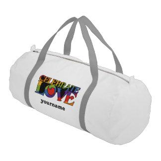 Celebrate Love custom monogram gym bag