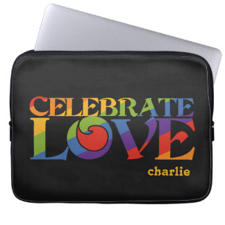 Celebrate Love custom monogram laptop sleeves