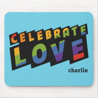 Celebrate Love custom monogram mousepad
