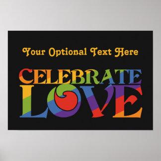 Celebrate Love custom poster