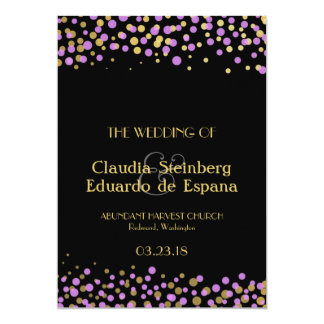 Celebrate Love – Lavender / Purple + Gold 5x7 Paper Invitation Card