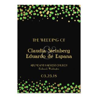Celebrate Love – Spring Green + Gold 5x7 Paper Invitation Card